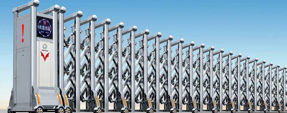 不锈钢系列A007型电动伸缩门解决方案