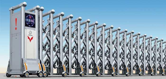 不锈钢A007型电动伸缩门价格_尺寸