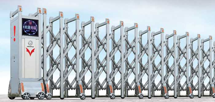 不锈钢系列A006型电动伸缩门价格_尺寸