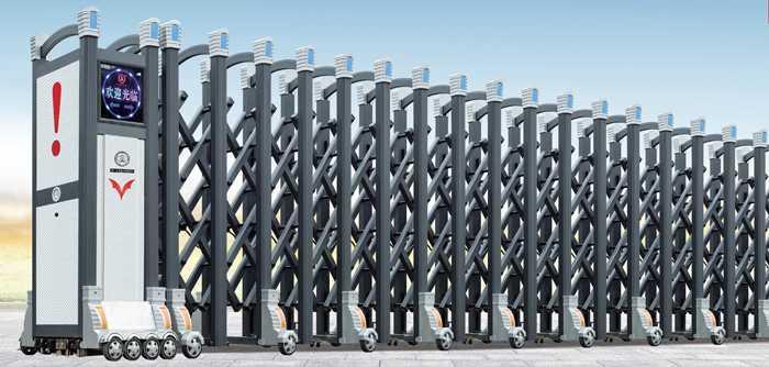 盛系列大鸿福标准C-1电动伸缩门价格_尺寸
