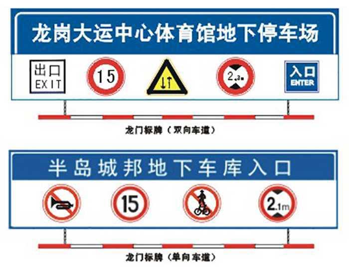 地下车库交通设施出入口标牌