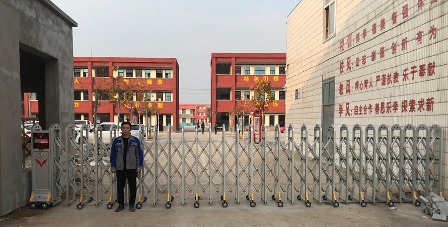 电动伸缩门-原阳示范区第二初级中学