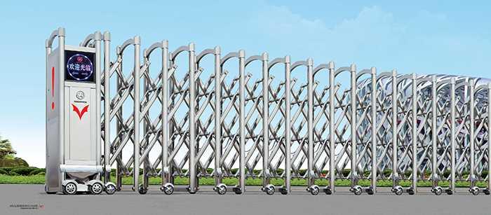 不锈钢Ⅱ(2)电动伸缩门价格_尺寸