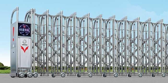 不锈钢Ⅶ(7)型电动伸缩门价格_尺寸
