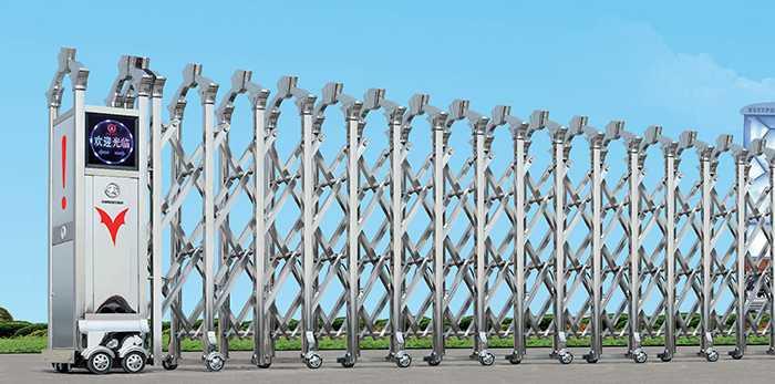 不锈钢Ⅵ(6)型电动伸缩门价格_尺寸