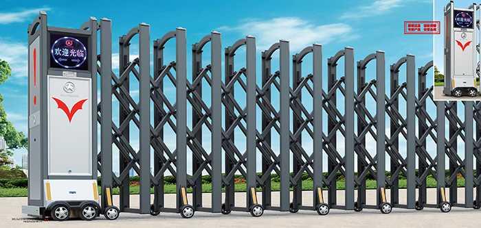 大鸿福标准A-1电动伸缩门价格_尺寸