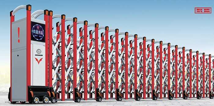 大鸿福标准D-4电动伸缩门价格_尺寸
