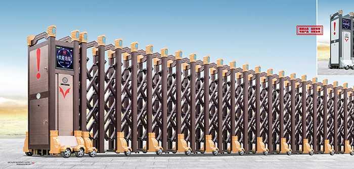 大鸿福标准B-1电动伸缩门价格_尺寸