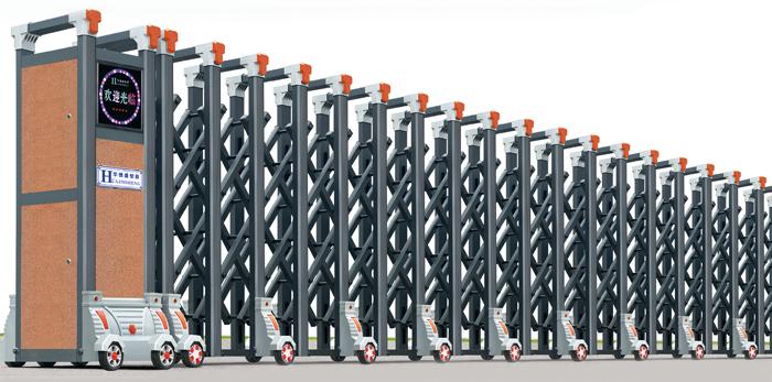 百福-A型电动伸缩门价格_尺寸