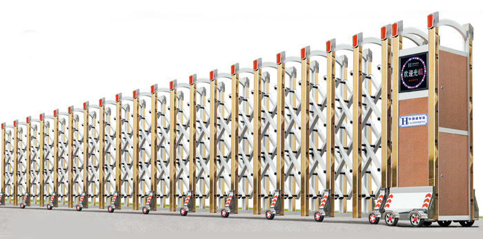 中国风-A型电动伸缩门价格_尺寸