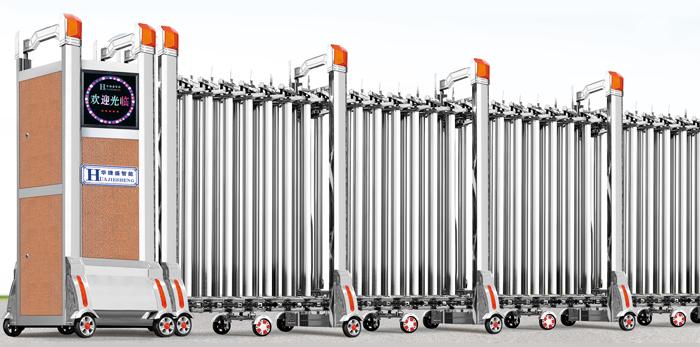玉龙-A电动伸缩门价格_尺寸